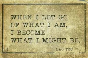 """""""Als ik laat gaan wat ik ben, wordt ik wat ik mag zijn"""""""
